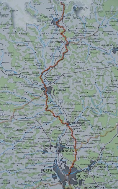 Jakobsweg Franken Karte.Jakobsweg Coburg Lichtenfels Bamberg Nürnberg Pilgern In Bayern