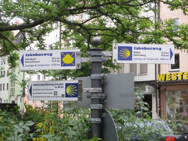 Jakobsweg Franken Karte.Mittelfränkischer Jakobsweg Pilgern In Bayern